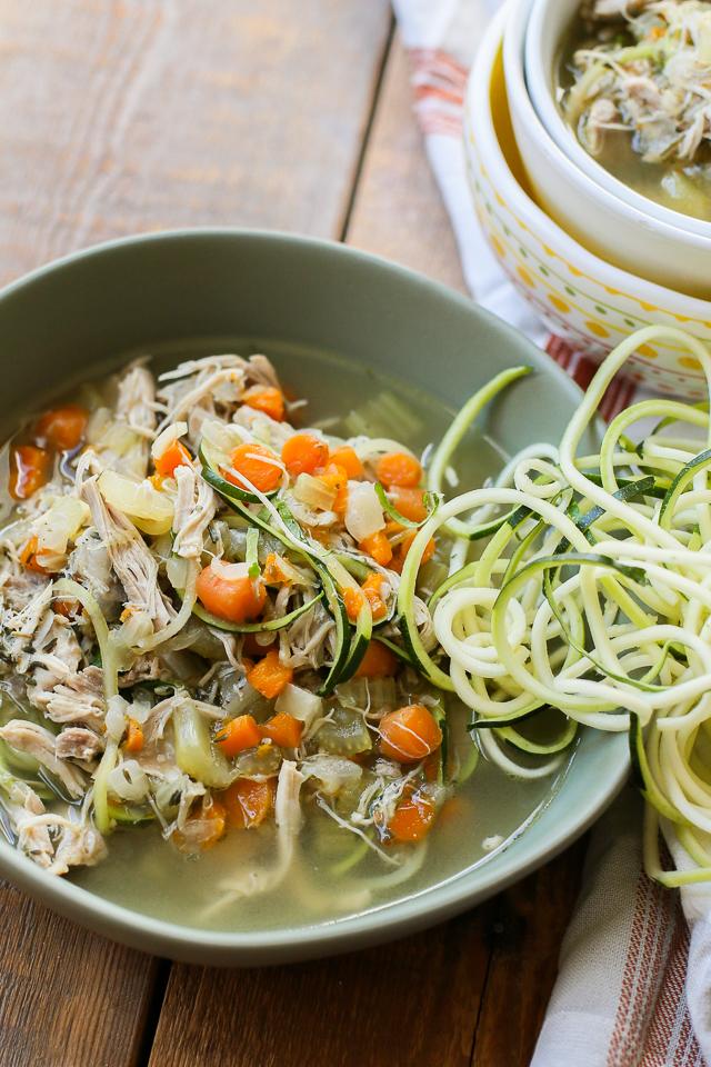 Instant Pot Chicken Noodle Soup with Zucchini Noodles