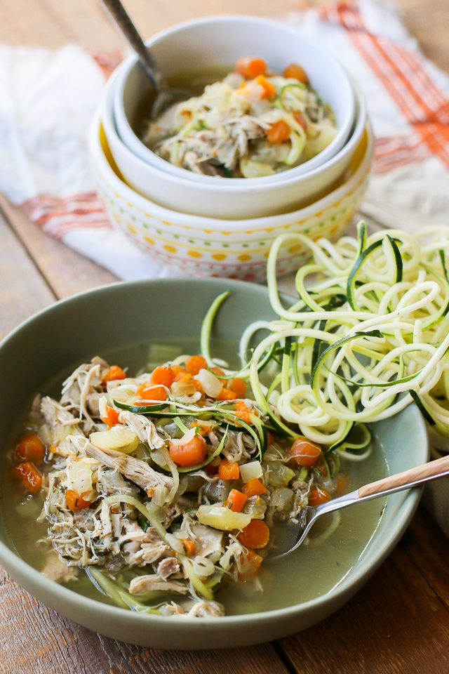 Chicken Zoodle Soup in the Instant Pot