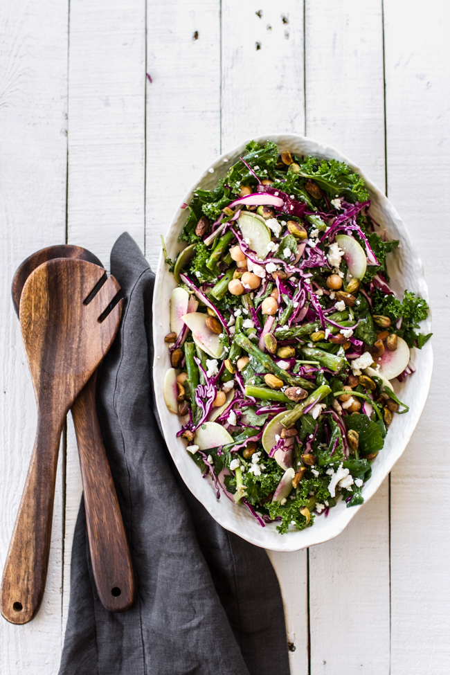 Spring Salad with Asparagus and Cabbage