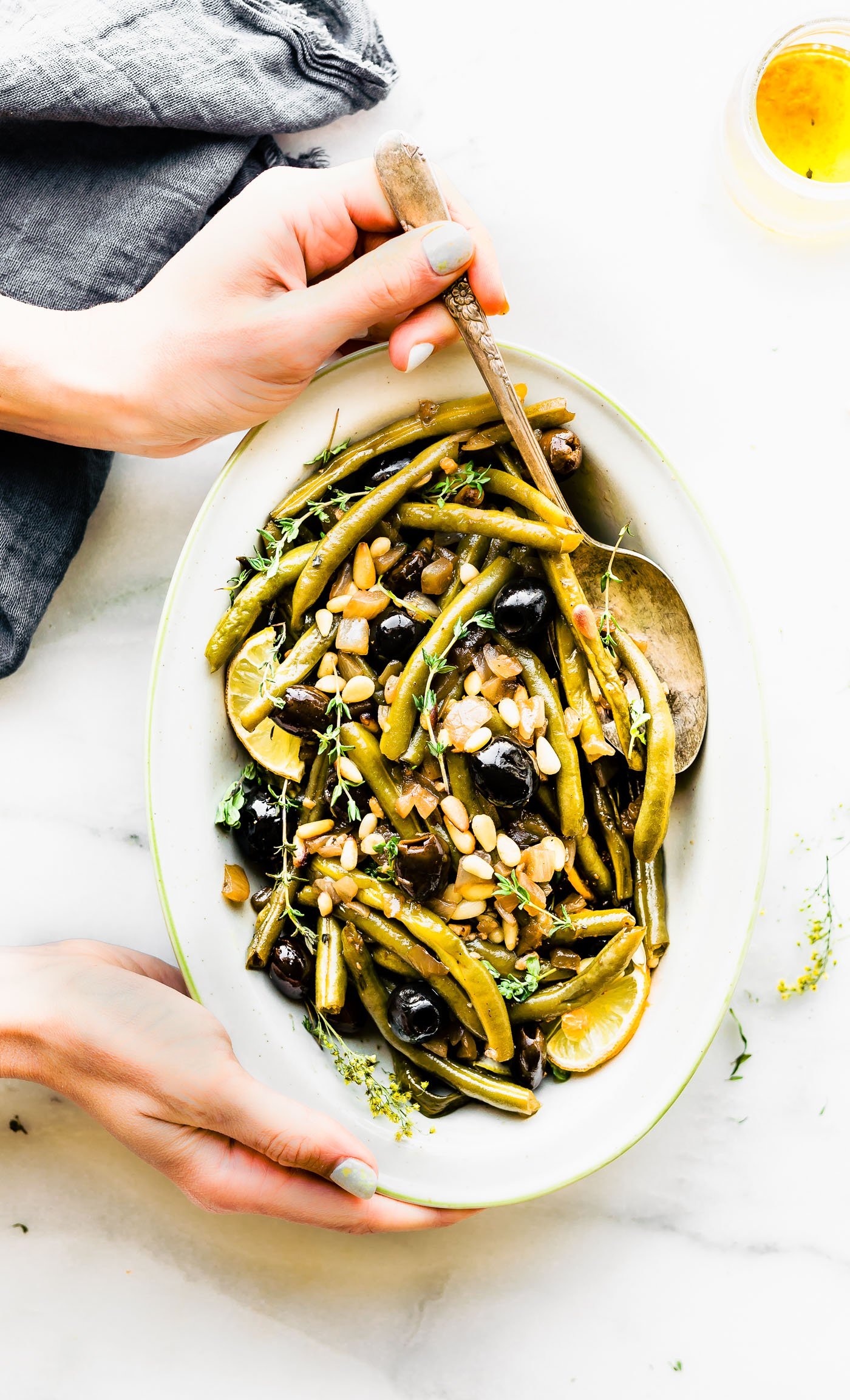 Balsamic Olive Oil Braised Green Beans