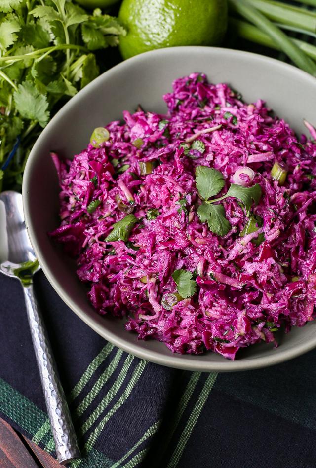 Healthy Purple Paleo Coleslaw Recipe