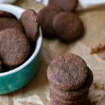 Homemade AIP Paleo Carob Chocolate Wafer Cookies