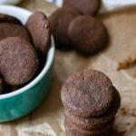 Homemade AIP Paleo Carob Chocolate Wafer Cookies
